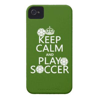 Coques iPhone 4 Case-Mate Gardez le football de calme et de jeu (toute