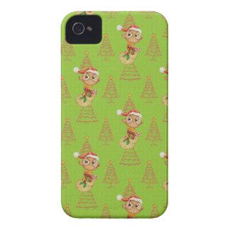 Coques iPhone 4 Case-Mate Hiboux et arbres verts de Noël