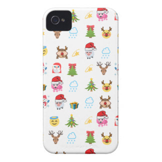 Coques iPhone 4 Case-Mate Houx Emojis gai - blanc