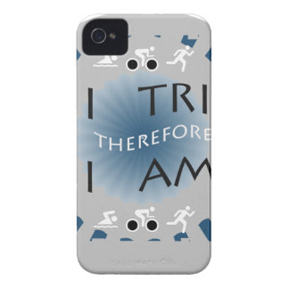 Coques iPhone 4 Case-Mate I tri par conséquent je suis triathlon