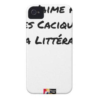 COQUES iPhone 4 Case-Mate JE N'AIME PAS LES CACIQUES DE LA LITTÉRATURE