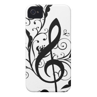 Coques iPhone 4 Case-Mate La musique note l'ornement floral 4