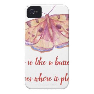 Coques iPhone 4 Case-Mate L'amour est comme un papillon