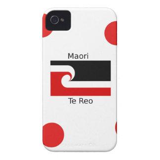 Coques iPhone 4 Case-Mate Langue de Te Reo et conception maorie de drapeau