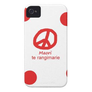 Coques iPhone 4 Case-Mate Langue et conception maories de symbole de paix