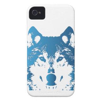 Coques iPhone 4 Case-Mate Loup de bleu glacier d'illustration