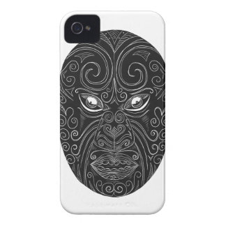 Coques iPhone 4 Case-Mate Masque maori Scratchboard