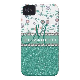 Coques iPhone 4 Case-Mate Motif de parties scintillantes de fleur de