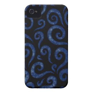 Coques iPhone 4 Case-Mate Motif de remous de bleu