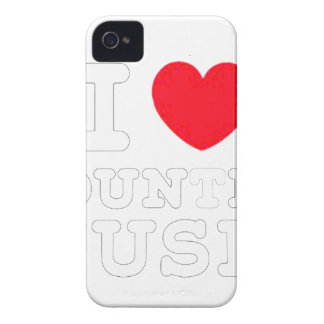 Coques iPhone 4 Case-Mate musique country W du coeur i