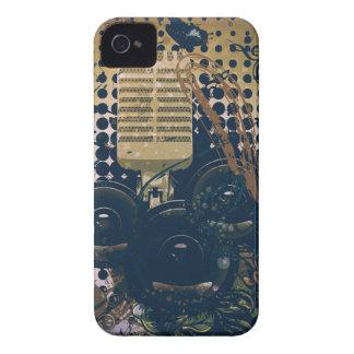 Coques iPhone 4 Case-Mate Musique vintage Microphone2