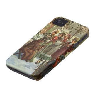 Coques iPhone 4 Case-Mate Noël vintage, musique victorienne de jeu de