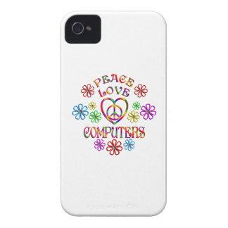 Coques iPhone 4 Case-Mate Ordinateurs d'amour de paix