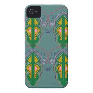 Coques iPhone 4 Case-Mate Ornements de luxe vert-bleu