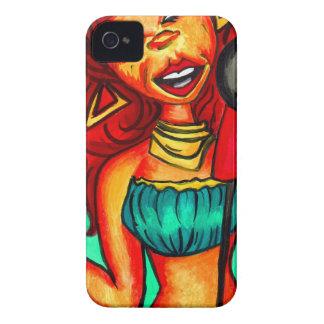 Coques iPhone 4 Case-Mate Peinture de dame de chanteur