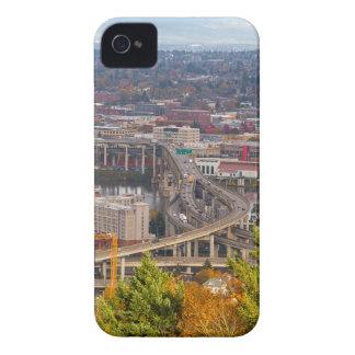 Coques iPhone 4 Case-Mate Pont de Marquam à Portland OU scène d'automne