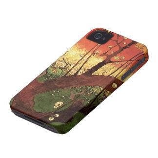 Coques iPhone 4 Case-Mate Prunier fleurissant japonais de Van Gogh,