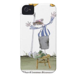 Coques iPhone 4 Case-Mate rayures blanches bleues en avant de centre du