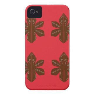 Coques iPhone 4 Case-Mate Rouge de luxe de brun d'ornements