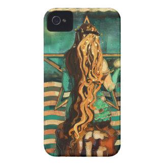 Coques iPhone 4 Case-Mate Sirène par la mer avec la lune et les étoiles