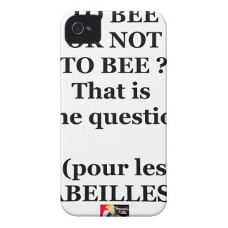 Coques iPhone 4 Case-Mate TO BEE OR NOT TO BEE ? That is the question