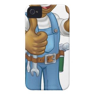 Coques iPhone 4 Case-Mate Tournevis noir de bricoleur d'électricien de bande