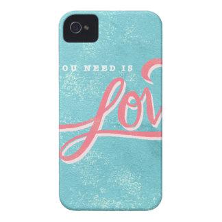Coques iPhone 4 Case-Mate Tout que vous avez besoin est amour