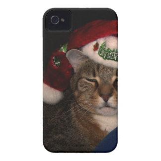 Coques iPhone 4 Case-Mate Un chat à Noël