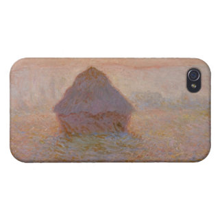 Coques iPhone 4 Claude Monet   Grainstack, Sun dans la brume