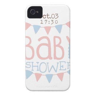 Coques iPhone 4 Conception de papier Templ d'invitation de baby