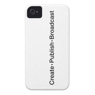 """Coques iPhone 4 """"CRÉEZ  •  ÉDITEZ  •  L'ÉMISSION"""", texte, CRÉENT,"""