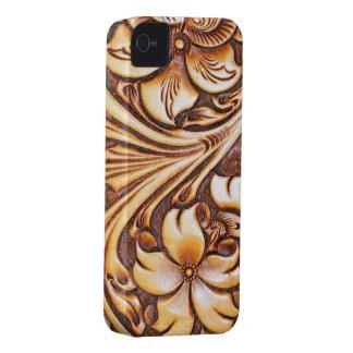 Coques iPhone 4 Cuir usiné de pays occidental de mode de cowboy