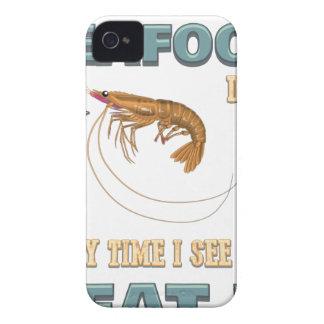 Coques iPhone 4 Des fruits de mer d'amour - vis suivant un régime