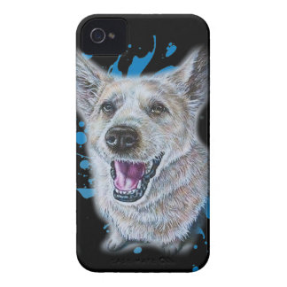 Coques iPhone 4 Dessin de la séance et de la peinture de chien
