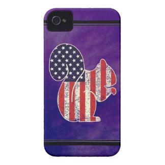 Coques iPhone 4 Drapeau américain affligé par écureuil drôle