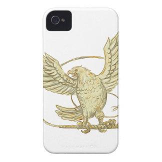 Coques iPhone 4 Eagle saisissant le dessin de Bullwhip