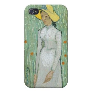 Coques iPhone 4 Fille de Vincent van Gogh | dans le blanc, 1890