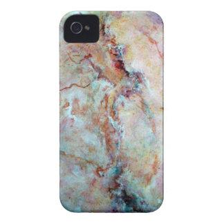 Coques iPhone 4 Finition rose de pierre de marbre d'arc-en-ciel