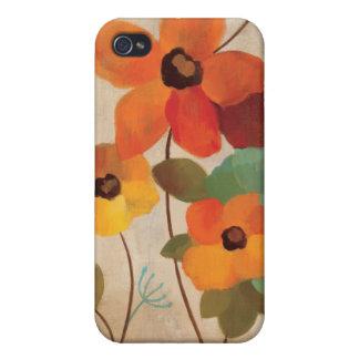 Coques iPhone 4 Fleurs colorées sur un arrière - plan blanc