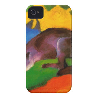 Coques iPhone 4 Fox noir bleu de Franz Marc