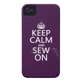 Coques iPhone 4 Gardez le calme et cousez sur (dans toutes les