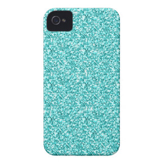 Coques iPhone 4 Girly, parties scintillantes bleues d'Aqua