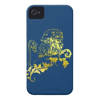 Coques iPhone 4 Gold heraldic lion - unique phone case