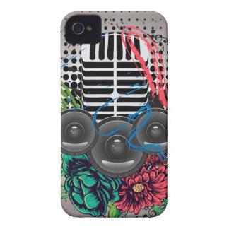Coques iPhone 4 Haut-parleur grunge et microphone 2