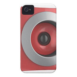 Coques iPhone 4 Haut-parleur rouge