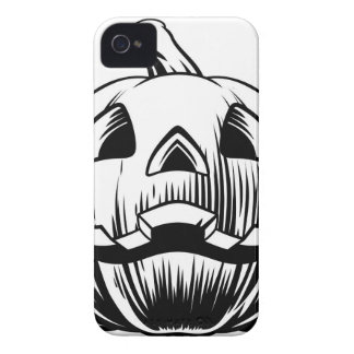 Coques iPhone 4 Illustration de citrouille de Halloween