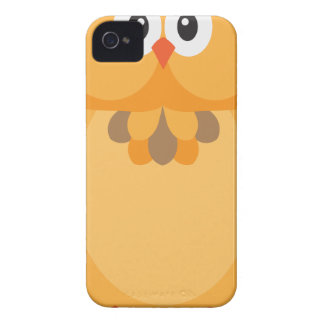 Coques iPhone 4 Illustration de hibou de couleur d'automne de