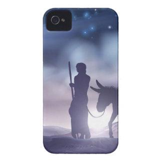 Coques iPhone 4 Illustration Mary et Joseph de Noël de nativité