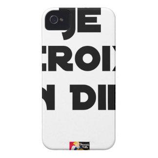 Coques iPhone 4 JE CROIX EN DIEU - Jeux de mots - Francois Ville