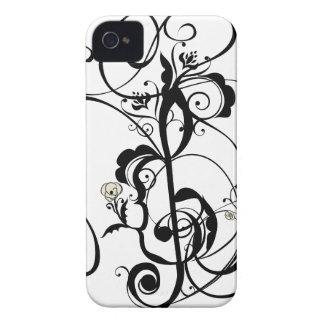 Coques iPhone 4 La musique note l'ornement floral